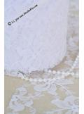 20M tulle dentelle 10cm blanc