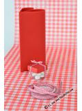 10m Ruban 6mm vichy rouge