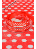 10m Ruban 9,5mm pois rouge