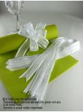 5 mini noeud organdi blanc