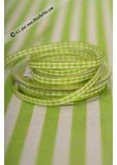 10m Ruban 9.5mm vichy vert anis