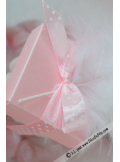 10 petits cubes transparent et rose