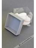 10 petits cubes transparent et gris