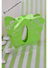 6 Papillons Vert Habit d'Argent