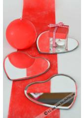 1 miroir coeur 10 CM