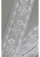 20M tulle fleurs blanc BARBARA 5cm