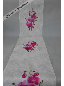 5M Chemin de table orchidee fushia