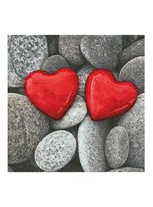 20 Serviettes Coeurs Love