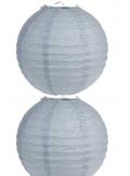 2 Lanterne GRISE 30 cm