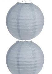 2 Lanternes GRISES 30 cm