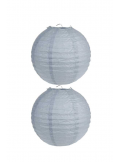2 Lanternes GRISES 20 cm