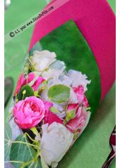 20 Serviettes Bouquet de Roses Tendres
