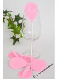 6 Pinces ballons rose
