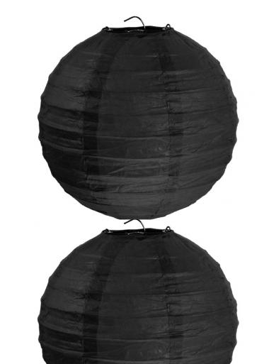 2 Lanternes NOIR 30 cm