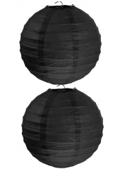 2 Lanternes NOIR 20 cm