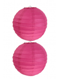 2 Lanternes FUSHIA 20 cm