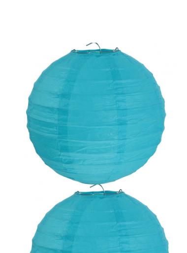 2 Lanternes TURQUOISE 30 cm