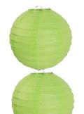 2 Lanternes VERT ANIS 30 cm