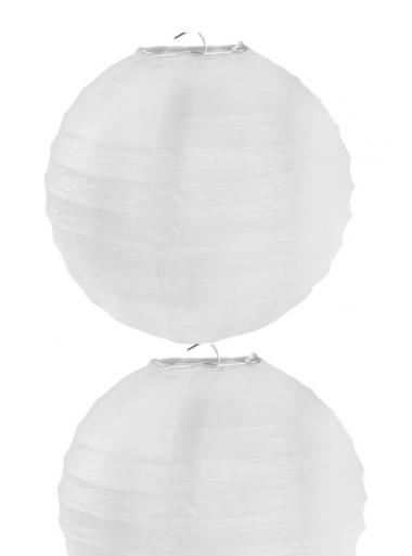 2 Lanternes BLANC 30 cm