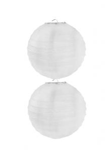 2 Lanternes BLANC 20 cm