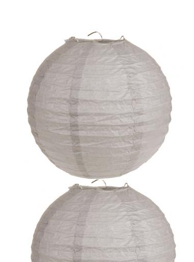 2 Lanternes TAUPE 30 cm