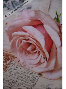 20 Serviettes Roses Amour