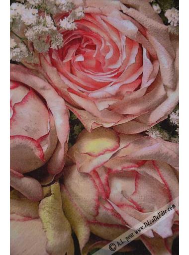 20 Serviettes Roses Anna