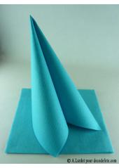 25 Serviettes jetables presto turquoise
