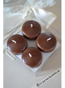10 Bougies flottantes chocolat