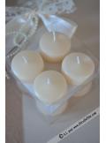 8 Bougies flottantes ivoire