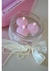 8 Bougies flottantes rose