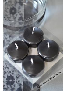8 Bougies flottantes noire