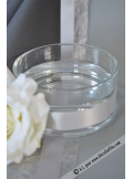 1 vase bas rond 14cm