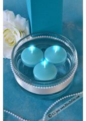 8 Bougies flottantes turquoise
