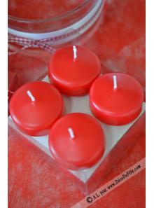 8 Bougies flottantes rouge
