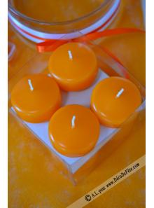 8 Bougies flottantes mandarine