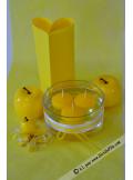 8 Bougies flottantes jaune citron