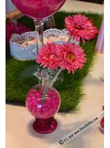 1 fiole en verre ronde 12cm