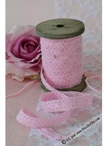 10M bobine bois de dentelle rose