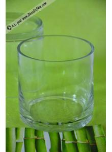1 vase ROND verre 10cm