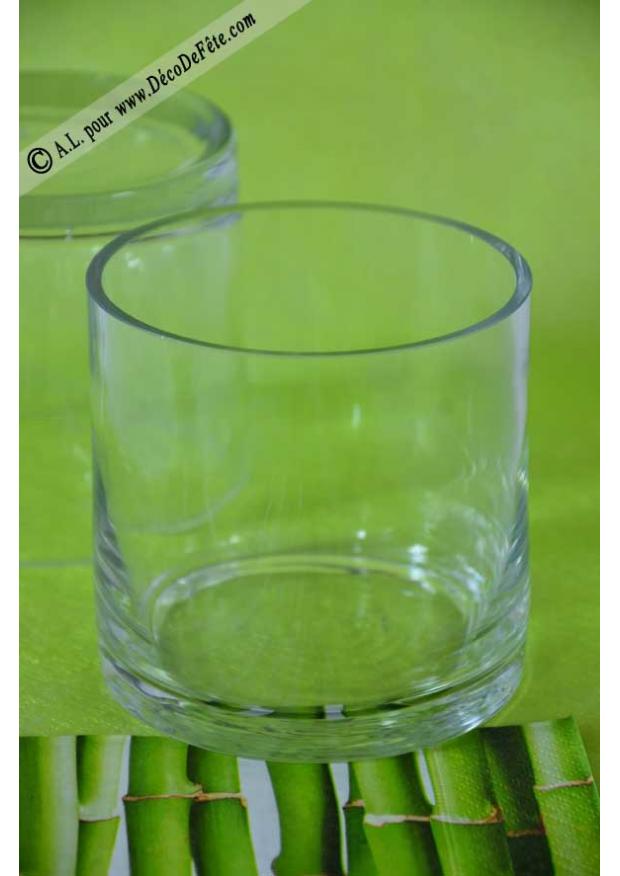 1 vase rond verre 10cm - Vase rond en verre ...