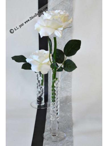 1 soliflore verre 25cm - Decoration de grand vase transparent ...