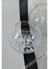 1 vase BOULE verre 12cm