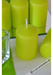 1 Bougie cylindre 6cm vert anis
