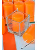 1 Bougie cylindre 6cm orange
