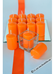 1 Bougie cylindre 6cm orange