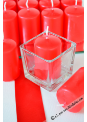 1 Bougie cylindre 6cm rouge