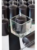 1 Bougie cylindre 6cm noire