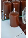 1 Bougie cylindre 6cm chocolat