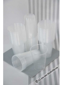 100 verres plastic transparent 20/23cl